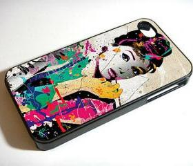 Audrey Hepburn art - Custom iPhone 4/4S, iPhone 5, Samsung Galaxy S3 Case