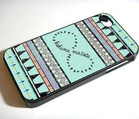 aztec pattern Hakuna Matata - Custom iPhone 4/4S, iPhone 5, Samsung Galaxy S3 Case