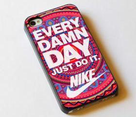 Every Damn Day Just Do It Nike Aztec Pattern - Custom iPhone 4/4S, iPhone 5, Samsung Galaxy S3 Case