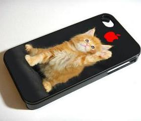 FUNNY CAT Kitten Kitty - Custom iPhone 4/4S, iPhone 5, Samsung Galaxy S3 Case