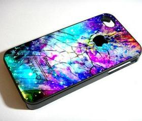 Galaxy Nebula Cracked Out Broken Glass - Custom iPhone 4/4S, iPhone 5, Samsung Galaxy S3 Case