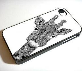 Giraffe Art - Custom iPhone 4/4S, iPhone 5, Samsung Galaxy S3 Case