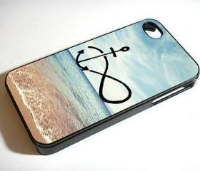 Infinity Anchor Refuse to Sink Blue Ocean Beach - Custom iPhone 4/4S, iPhone 5, Samsung Galaxy S3 Case