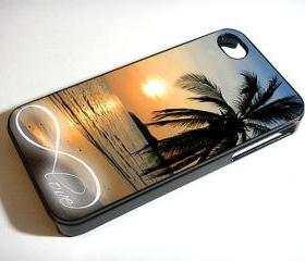 Infinity Love Sunset Beach - Custom iPhone 4/4S, iPhone 5, Samsung Galaxy S3 Case