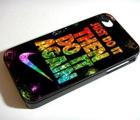 Just Do It Then Do It Again Nike Sparkle - Custom iPhone 4/4S, iPhone 5, Samsung Galaxy S3 Case
