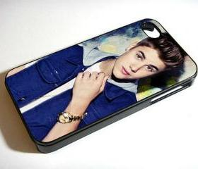 Justin Bieber Blue Jacket - Custom iPhone 4/4S, iPhone 5, Samsung Galaxy S3 Case