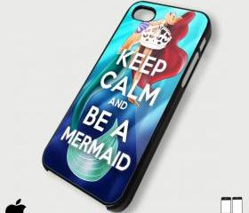 keep calm and Be A Mermaid - Custom iPhone 4/4S, iPhone 5, Samsung Galaxy S3 Case
