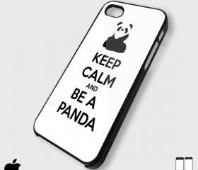 keep calm and Be A Panda - Custom iPhone 4/4S, iPhone 5, Samsung Galaxy S3 Case