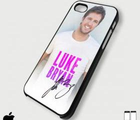Keep Calm and Luke Bryan signature - Custom iPhone 4/4S, iPhone 5, Samsung Galaxy S3 Case