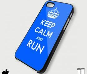 keep Calm and Run - Custom iPhone 4/4S, iPhone 5, Samsung Galaxy S3 Case