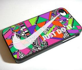 Nike JUST DO IT with wonderful aztec pattern - Custom iPhone 4/4S, iPhone 5, Samsung Galaxy S3 Case