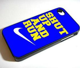 Nike Shut Up and Run Shut Up and Jump - Custom iPhone 4/4S, iPhone 5, Samsung Galaxy S3 Case