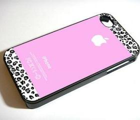 Pink Teal and Black Leopard - Custom iPhone 4/4S, iPhone 5, Samsung Galaxy S3 Case