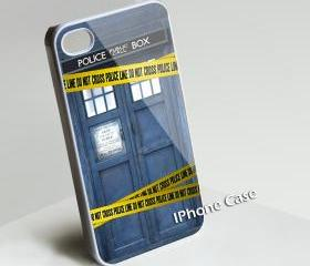Police Box Line Police - Custom iPhone 4/4S, iPhone 5, Samsung Galaxy S3 Case