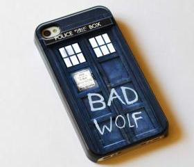 Tardis Doctor Who Bad Wolf - Custom iPhone 4/4S, iPhone 5, Samsung Galaxy S3 Case
