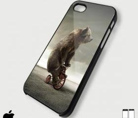 Tricycle Bear - Custom iPhone 4/4S, iPhone 5, Samsung Galaxy S3 Case