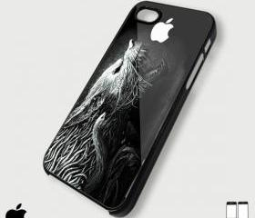 Wolf Snake Apple Black white - Custom iPhone 4/4S, iPhone 5, Samsung Galaxy S3 Case
