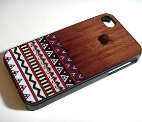 Wood Aztec Pattern iPhone - Custom iPhone 4/4S, iPhone 5, Samsung Galaxy S3 Case